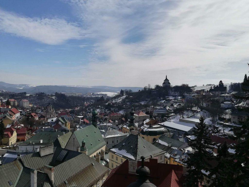 Banská Štiavnica pohľad na starý zámok - duša ženy