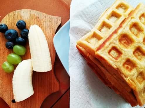 Škoricové wafle s ovocím - duša ženy